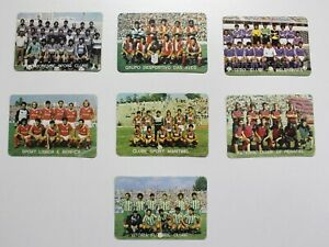 Portuguese-League-Clubs-Calendars-1986-Teams-Benfica-Aves-Portugal-Football-Old
