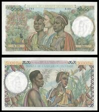 French West Africa 5000 Francs 22.12.1950 P 43 UNC