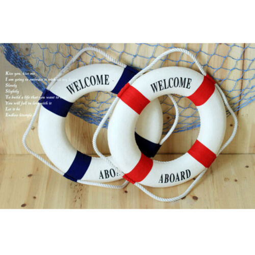 Welcome Aboard Nautical Life Lifebuoy Ring Boat Wall Hanging Home Decoration  LK