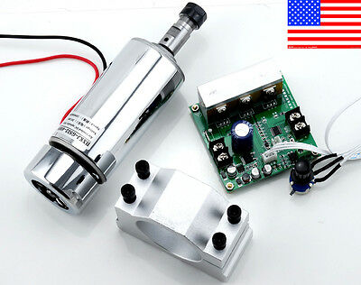 Upgrade - CNC Engraving 0.4KW Spindle Motor ER11 & Mach3 PWM Controller & Mount