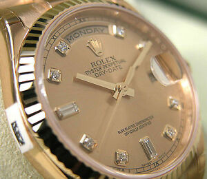 5f2bf4aba09 Rolex Day-Date President 118238 Yellow Gold 36mm Champagne Diamond ...