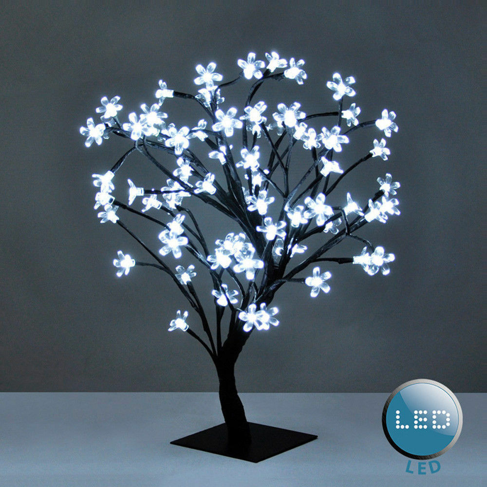 45CM 40 LED LIGHT XMAS TREE HOME FAIRY BONSAI Weiß LOUNGE TABLE LAMP MODERN