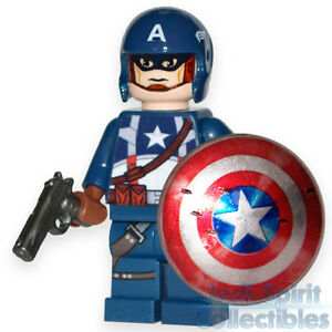 Lego custom captain america minifig movie style c ebay - Lego capitaine america ...