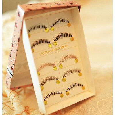 5Patterns Seamless Bottom False Eyelash Eye Makeup Fake Eye Lash #B15