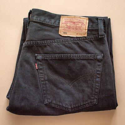 Vintage Levi 501 Jeans Nero Gamba Dritta Made In Usa (patchw 38l32) W 37 L 28-mostra Il Titolo Originale