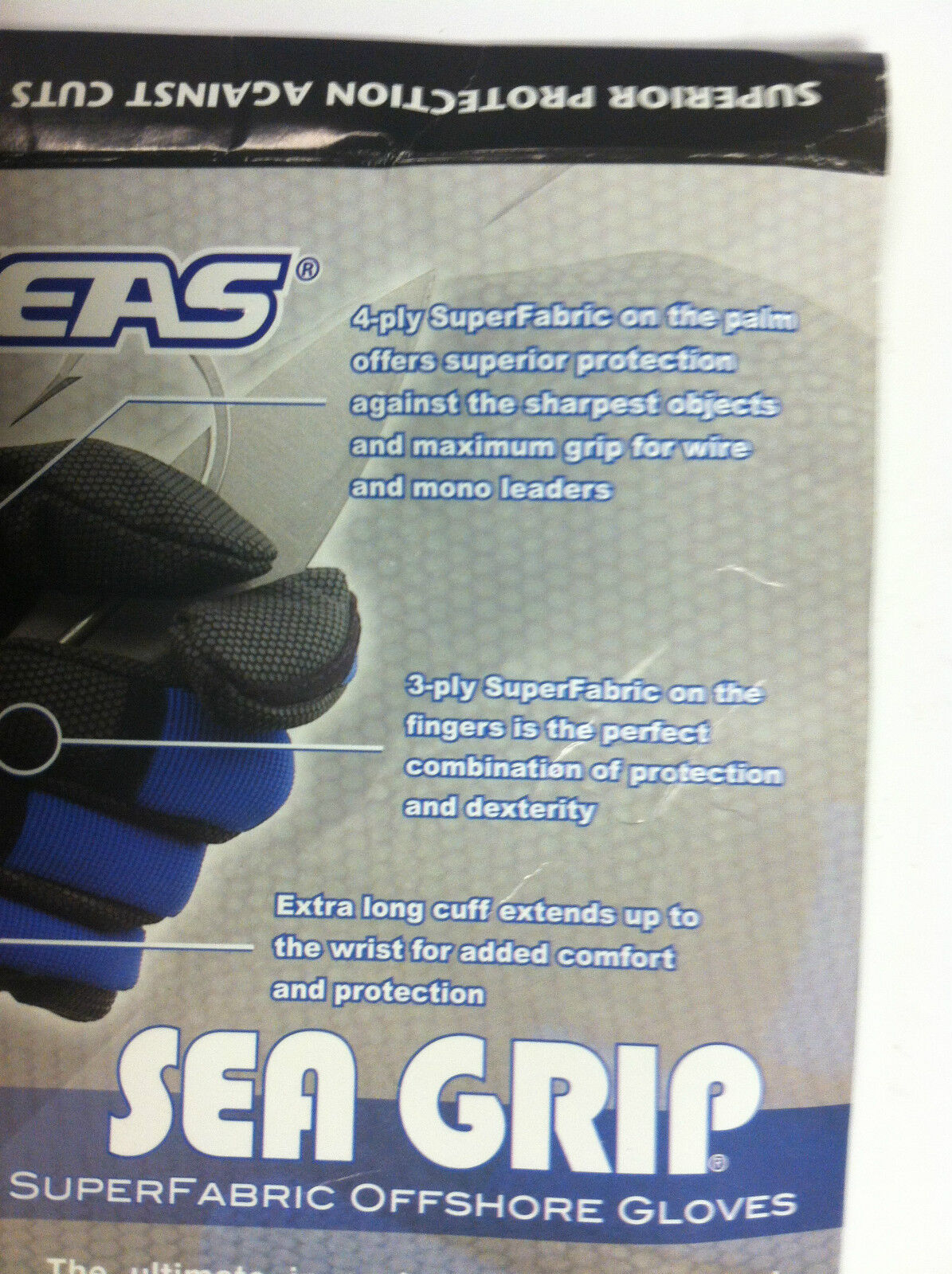 AFW SEA GRIP SUPER FABRIC OFFSHORE OFFSHORE OFFSHORE GLOVES - Blau - ULTIMATE PROTECTION 586da2