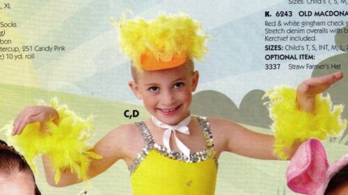 Feather wristlets Tail NWT Duckie Pkt Dance Costume Accessories Ears collar