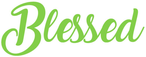 Mural Home Blessed Quote Vinyl Wall Art Sticker Wall Decor. Decal