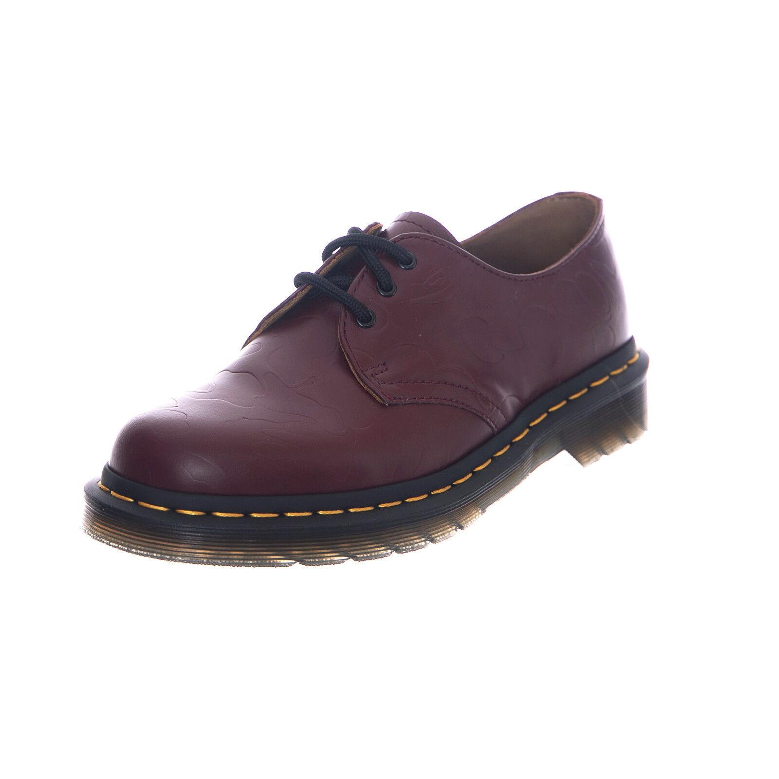 Dr.Martens Sneakers 1461 Bape Khaki Smooth Emboss Burgundy