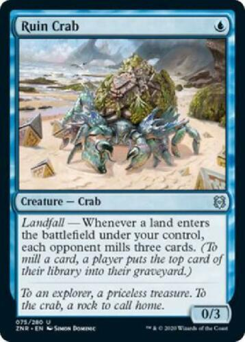 3x Ruin Crab 075//280 Near Mint MTG Zendikar Rising Singles