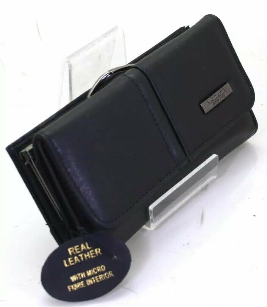 Ladies & Girls Lorenz Fashion Soft Real Leather Clutch Purse Large Perfect Gift