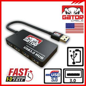 USB-3-0-Hub-4-Port-Adapter-Charger-Data-Sync-Super-Speed-PC-Mac-Laptop-Desktop