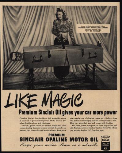 SINCLAIR VINTAGE AD 1947 GEORGE BRENT /& CAROLE LANDIS Magic Saw Man In 1//2