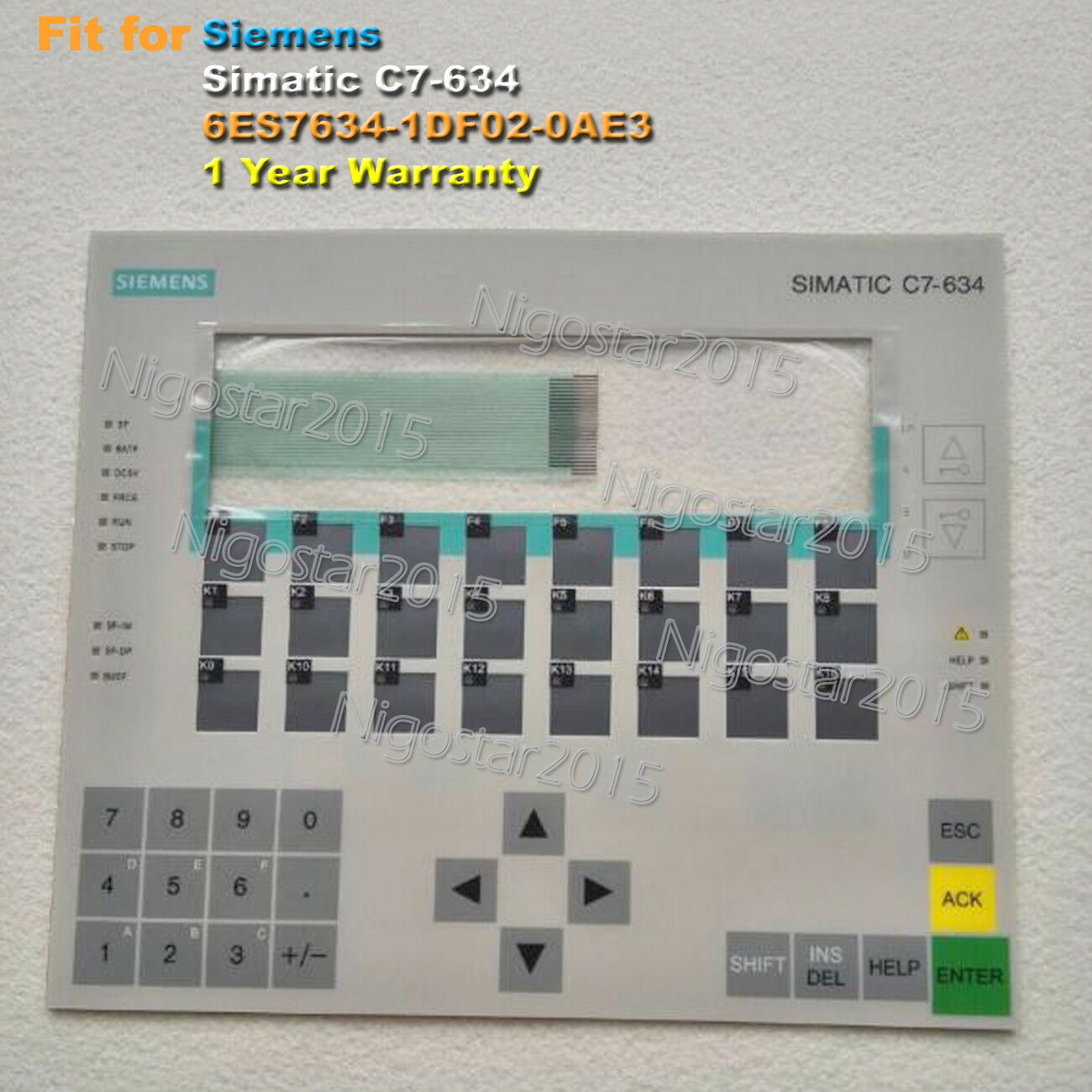 For SIEMENS SIMATIC C7-634 6ES7634-1DF02-0AE3 Membrane Keypad One Year Warranty