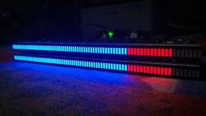 160 LED STEREO VU Meter sgvu-L 6 Blu + 2 Rosso