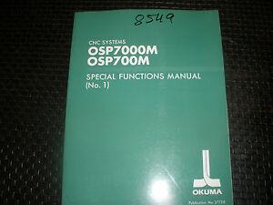 okuma osp7000m 700m control special function manual no 1 ebay rh ebay com Okuma Control OSP Okuma Control Auto