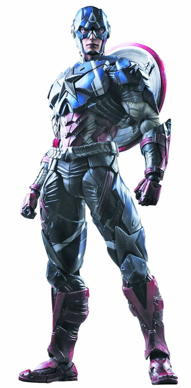 Marvel Comics CAPTAIN AMERICA Variant Play Arts Kai Action Figure  MIB  Avengers