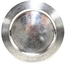 Obst und N/üsse als Dekoration und Teller f/ür S/ü/ßigkeiten Mehrfarbig Durchmesser ca aus Metall rund 33 cm IID Weihnachtsteller mit Weihnachtsmannmotiv