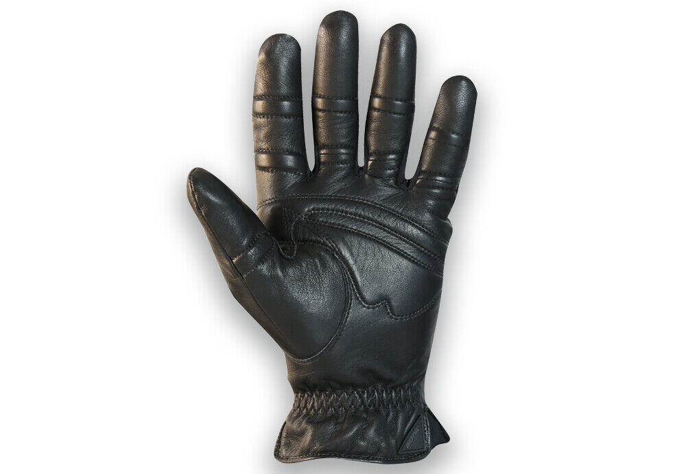 Bionic Gloves Men's Premium Cashmere-Lined Winter Gloves Small Black Leather