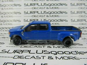 Greenlight-1-64-Deep-Blue-2019-FORD-F-350-LARIAT-Dually-Pickup-Truck-w-Tow-Hitch