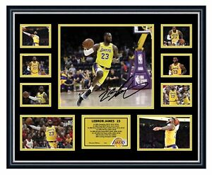 736d7a94b LEBRON JAMES LA LAKERS 2018 SIGNED PHOTO LIMITED EDITION FRAMED ...