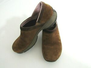 Merrell-Brown-Suede-Slip-On-Walking-Shoes-Clogs-Mules-Women-s-7-5