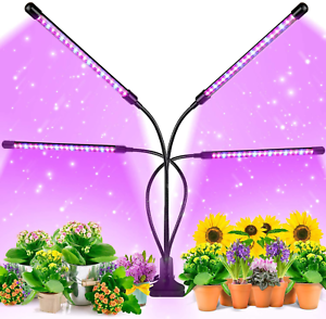 Ezorkas 9 Dimmable Levels Grow Light With 3 Modes Timing Function For Indoor