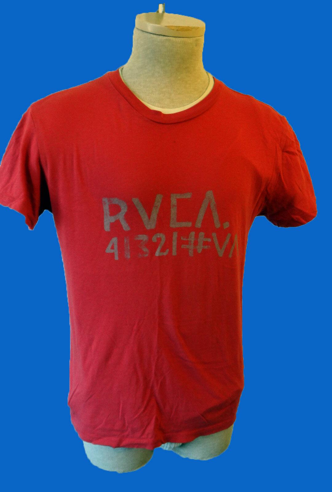 RVCA ANP Small Artist Network Program RED thin 41321 VA grey writing va