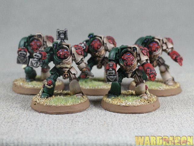 25mm  Warhammer 40K WDS painted Angels of rossoemption Deathwing Comuomod Squad j47  alla moda