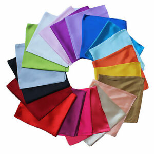 Women-Party-Solid-Silk-Square-Scarf-Bandana-Neckerchief-Head-Neck-Wrap-Scarves