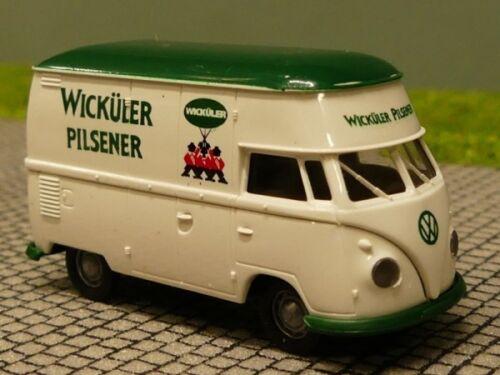 1//87 Brekina # 1378 VW T1 b Hochdach Wicküler Pilsener Sondermodell Reinhardt