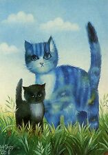 POSTCARD CARTE POSTALE ILLUSTRATEUR RENATE KOBLINGER N° LA 271 CAT / CHAT