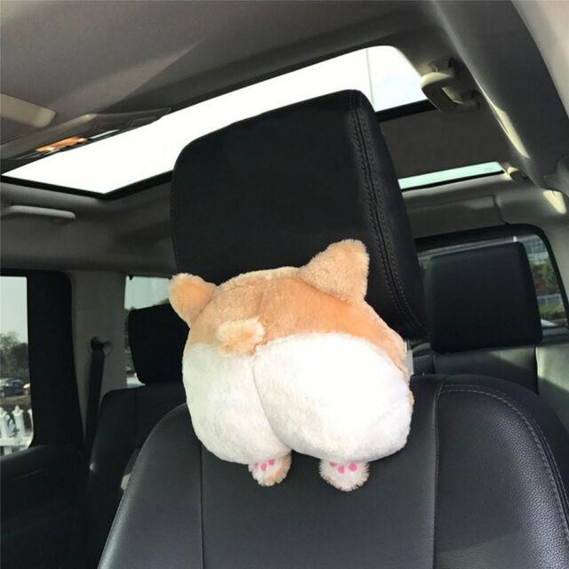 Novelty Corgi Bottom Car Seat Neck Pillow Dog Buttocks Headrest Cushion Plush