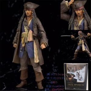 Pirates-of-the-Caribbean-Jack-Sparrow-15-cm-6-039-039-PVC-Nuevo-Caja-Figura-Juguetes