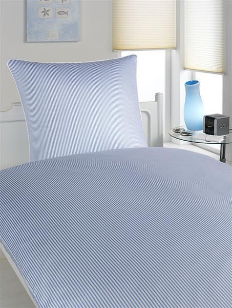 Elegante Mako-Satin Hamburger Streifen 2460 - Farbe  Blau-Weiss - 2, 80 80 135 2 | Spielen Sie auf der ganzen Welt und verhindern Sie, dass Ihre Kinder einsam sind