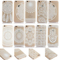 Clear Hard PC Ultra Thin Back Case Cover Slim Design Patterned Shell New Crystal