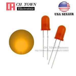 100pcs-5mm-Diffused-Orange-Orange-Round-Top-LED-F5-DIP-Light-Emitting-Diodes-USA