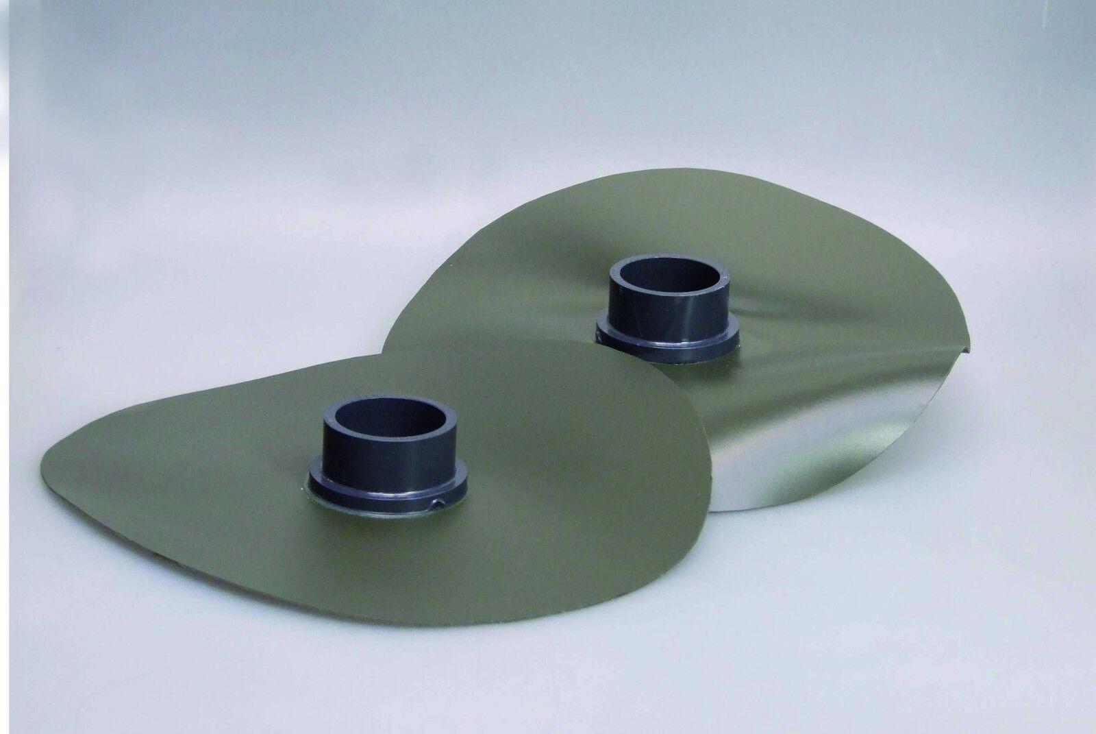 PVC-diapositive di attuazione PVC-foliendurchf. ad incollaggio Ø 110 mm, presa unilateralmente