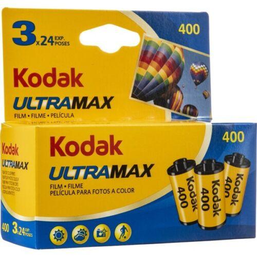 3x Kodak ULTRAMAX 400 24 exposure 35mm Color film