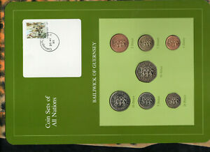 Coin-Sets-of-All-Nations-Guernsey-1979-1984-UNC-1-20-50-Pence-1983