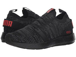 bright n colour special discount deft design Details about PUMA NRGY NEKO ENGINEER KNIT PUMA BLACK RED 191097 16 MENS US  SIZES