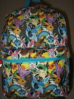 Pokemon Eevee Evolutions Umbreon Sylveon Characters Anime Backpack Bag Nes