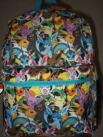 Pokemon Eevee Evolutions Umbreon Sylveon Characters Anime Backpack Bag Nes