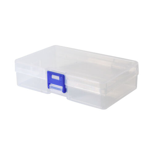 transparent fishing lure tackle hook bait plastic storage box container case DD
