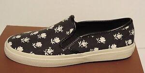 78a97aebbc New COACH Chrissy Slip On Sneakers black flat A7891 canvas elastic ...