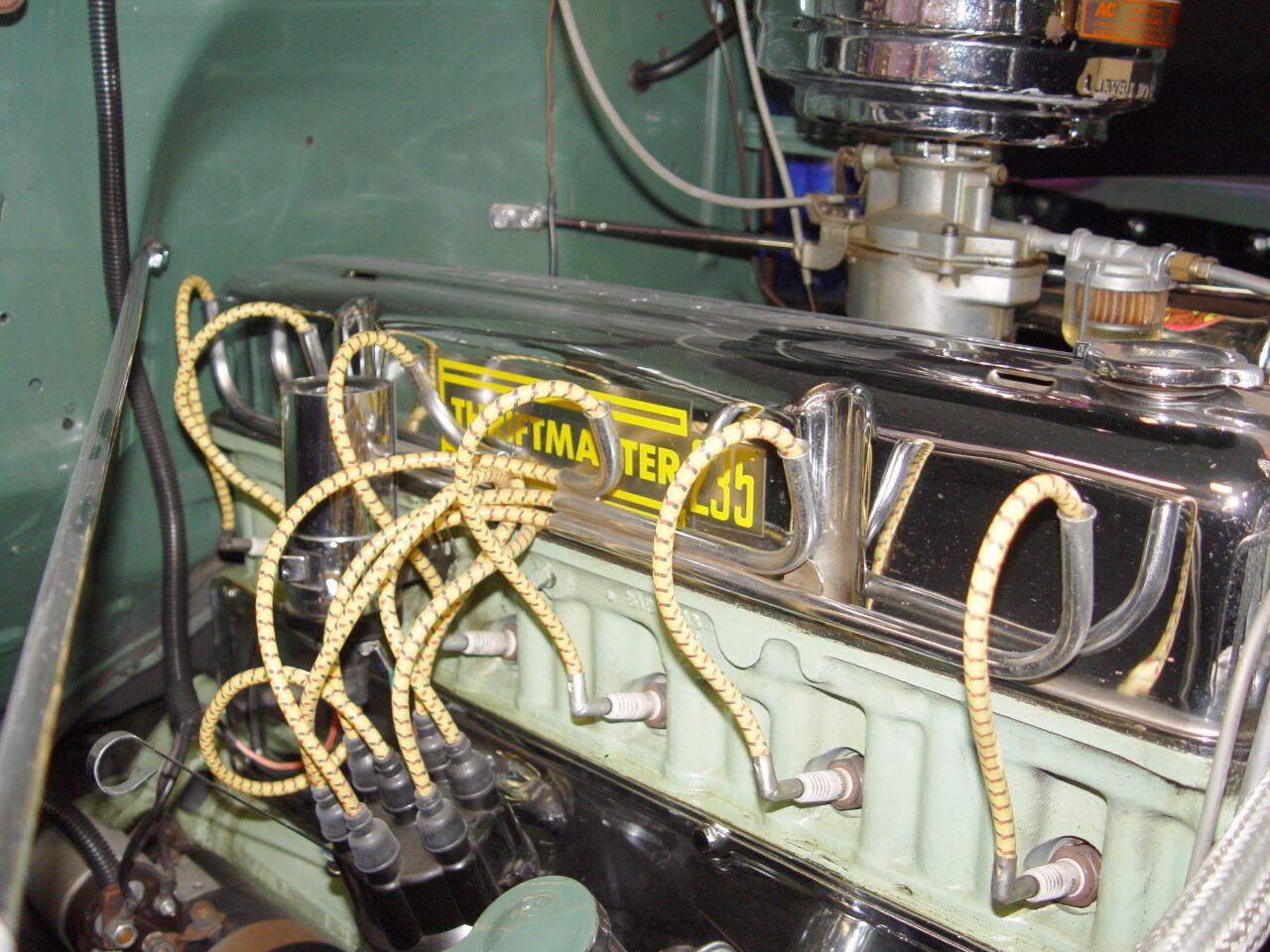 CHEVROLET 216 235 250 ACCESSORY SPARK PLUG WIRE LOOM CHROME COVERS ...