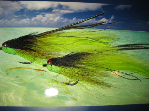 2 v fly taille 2//0 ultimate alphonse rv tableau poisson-appât saltwater flies