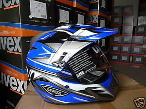 Uvex-Enduro-Motorradhelm-3-in-1-Neu-Originalverpackt-blau-silber-Groesse-XL