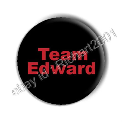 "/""TEAM EDWARD/"" TWILIGHT BUTTON BADGE PIN"