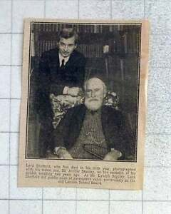 1925 Lord Sheffield Dies In 86th Year Photographed With Sir Arthur Stanley - Bishop Auckland, United Kingdom - 1925 Lord Sheffield Dies In 86th Year Photographed With Sir Arthur Stanley - Bishop Auckland, United Kingdom